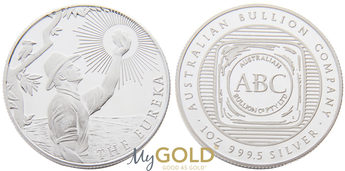 Buy 1oz ABC Bullion Eureka Minted Coin Silver with MyGold