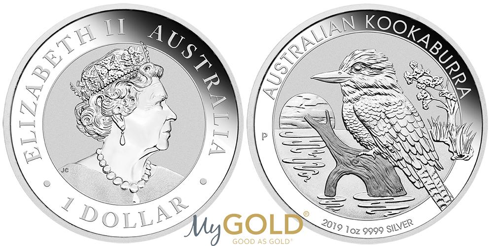 1oz Perth Mint Silver Kookaburra 2019 Coins