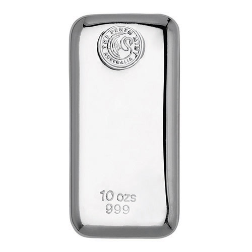 10oz Perth Mint Silver Cast Bar New Zealand