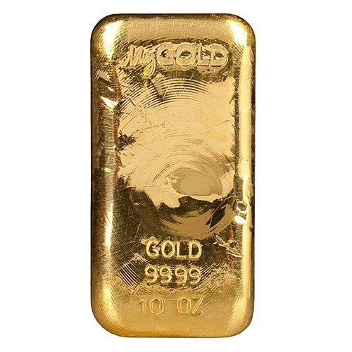 10oz Gold Bullion Bar New Zealand