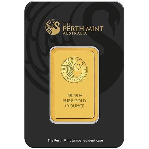 10oz Perth Mint Gold Minted Bar New Zealand