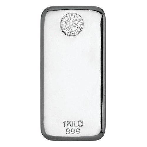 1kg Perth Mint Silver Cast Bar New Zealand