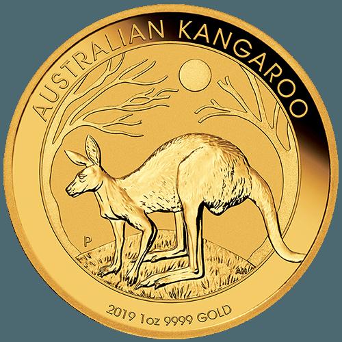 1oz Perth Mint Gold Kangaroo New Zealand