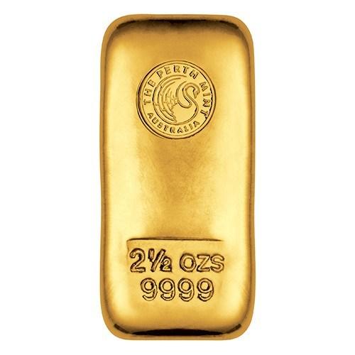 2.5oz Perth Mint Gold Bullion Bar New Zealand