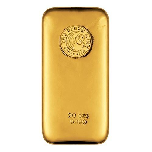 20oz Perth Mint Gold Bullion Bar New Zealand