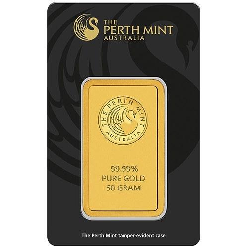 50g Perth Mint Gold Minted Bar New Zealand