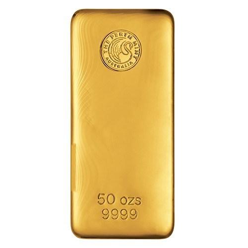 50oz Perth Mint Gold Bullion Bar New Zealand