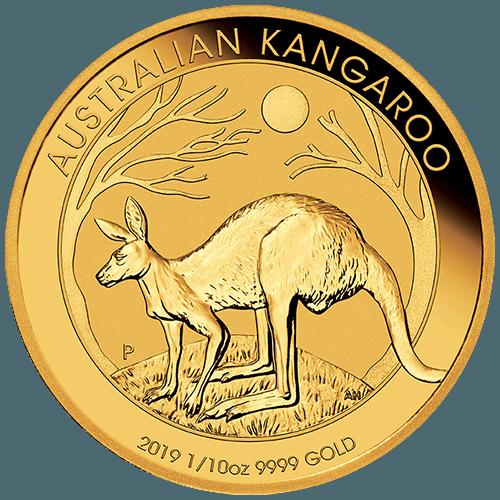 1/10oz Perth Mint Gold Kangaroo New Zealand
